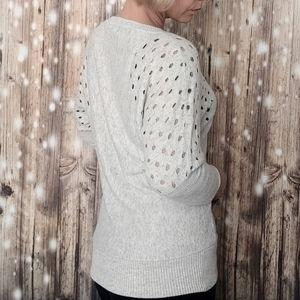 Lani cutout holes on shoulders sweater medium